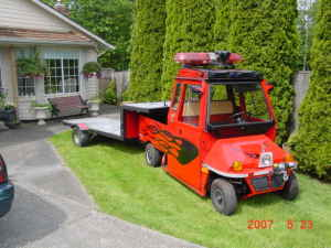 cushman with trailer one of a kind