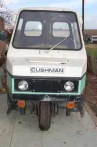 Cushman, paint ball tank, meter maid car, 3-wheeler